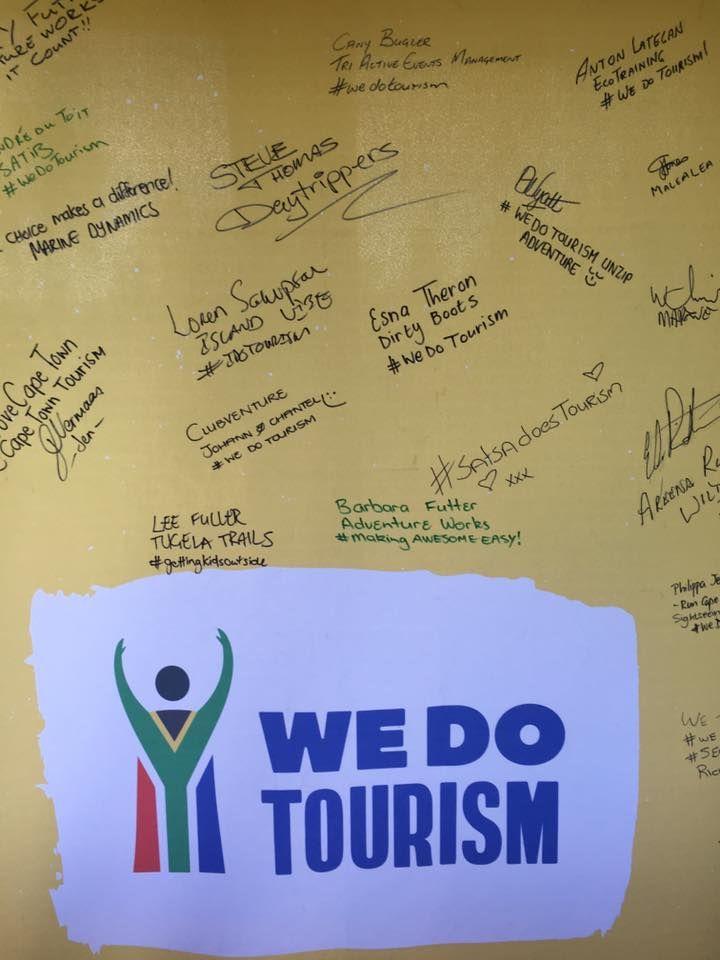 We do Tourism pledge. SA Adventure summit