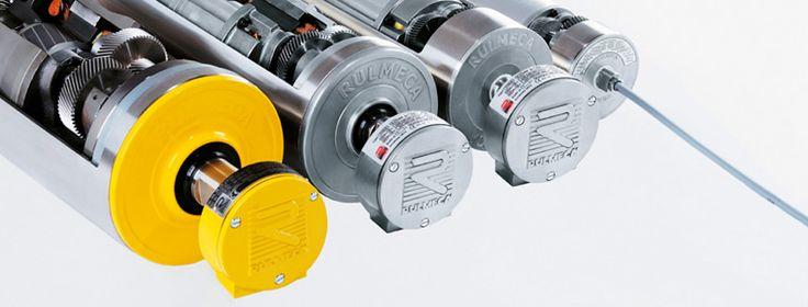Mototambores para accionamientos de cintas transportadoras. Motor+cojinetes+adaptadores+aceite todo cerrado herméticamente.