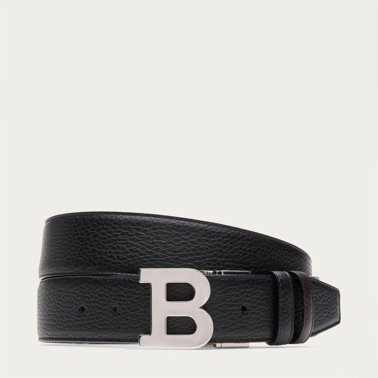 Bally | Metal B Buckle Leather Belt