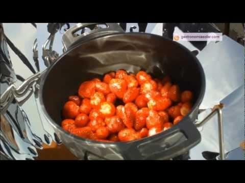 Cocina solar - Mermelada de fresa
