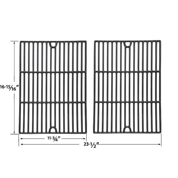 2 PACK GLOSS CAST IRON COOKING GRIDS FOR OUTDOOR GOURMET BQ51004, PATIO CHEF SS48 AND BRINKMANN 2500 GAS GRILL MODELS Fits Compatible Outdoor Gourmet Models : BQ51004 Read More @http://www.grillpartszone.com/shopexd.asp?id=34015&sid=36672