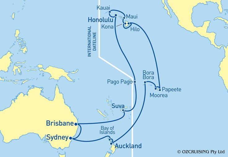 Sea Princess Hawaii, Tahiti and New Zealand Cruise - Ozcruising