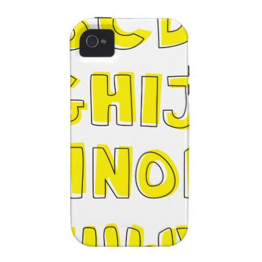 Alphabet Vibe iPhone 4 Case