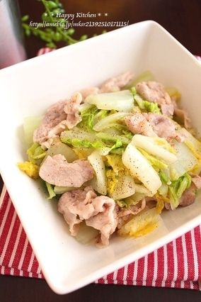 レンジで8分!白菜と豚肉の塩だれ蒸し|レシピブログ