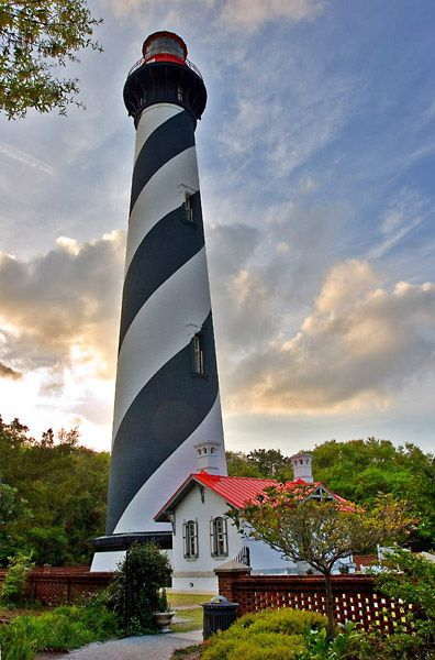St Augustine, FL - I've climbed this lighthouse.  It has a magnificient view.  Climbed it a second time at sunset and moonrise time.  God does beautiful things with this world.