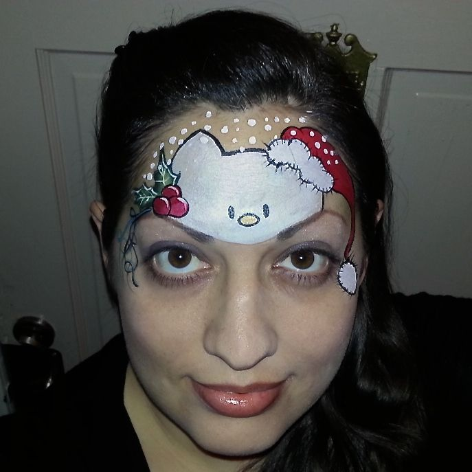 Christmas Hello Kitty Face Painting Paint Painter. By