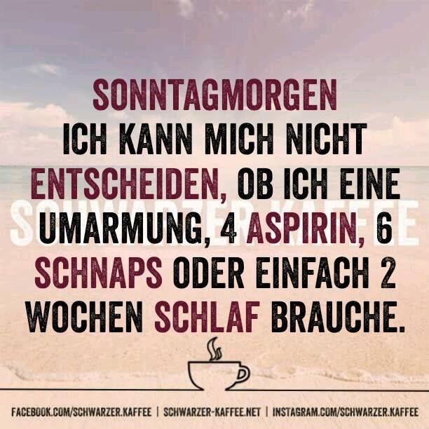 SONNTAGMORGEN - SCHWARZER-KAFFEE
