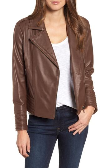 0c9c550b9f5064 New Badgley Mischka Gia Leather Biker Jacket online shopping in 2018 ...