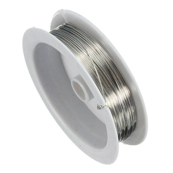 0.6mm 10M Silver Copper Wire Beading Wire DIY Jewelry Findings