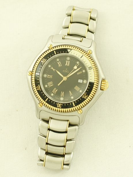 Ebel Discovery 18K Gold Stainless Steel Dive Watch