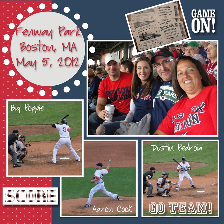 red sox scrapbook page ideas - Google Search