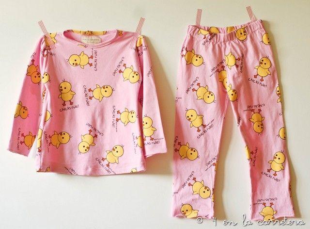 4enlacarretera. Coser un pijama sin patrón