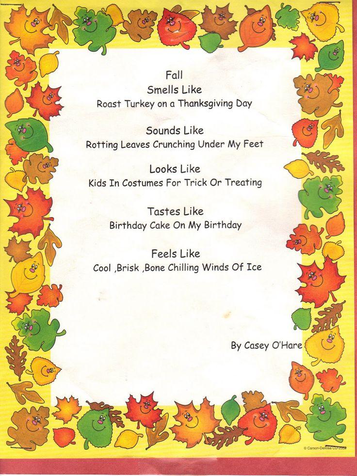 essay autumn season kids