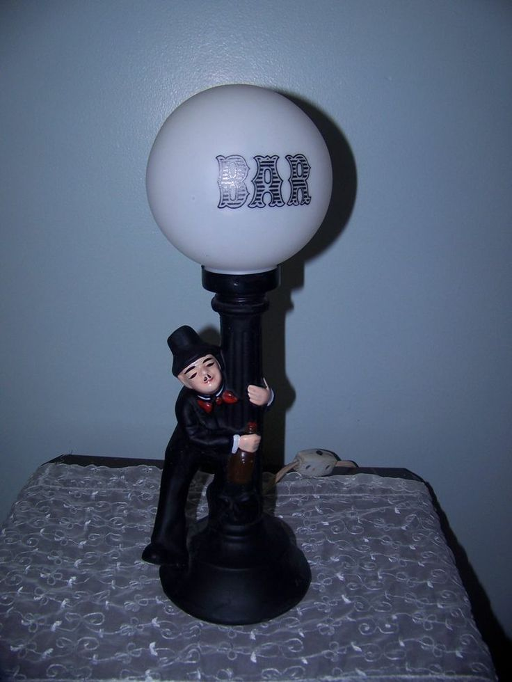 Charlie Chaplin Drunkard Lamp Post Bar Lamp Ceramic | Toys and ...