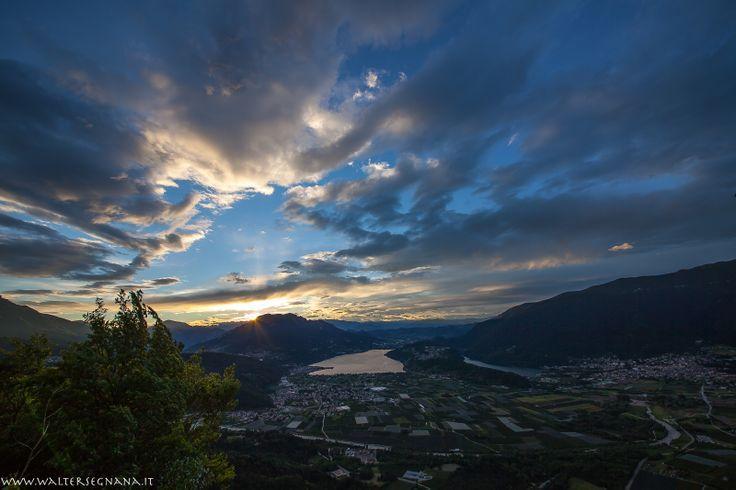 il tramonto sul lago di Levico e Caldonazzo