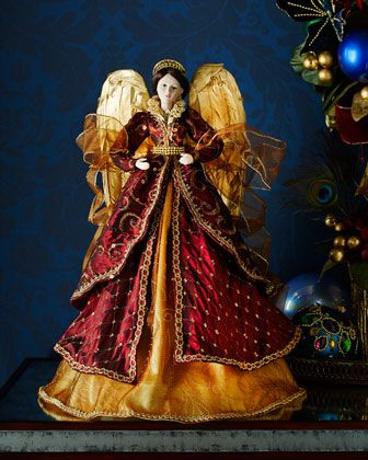 Burgundy & Gold Angel at Neiman Marcus.: