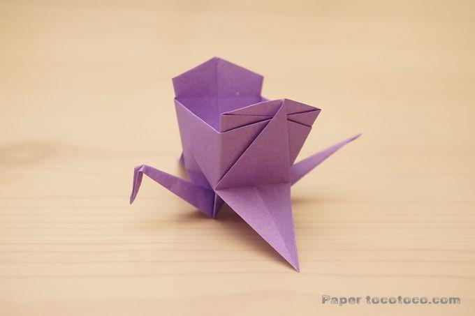折り紙 箱鶴の折り方 簡単 かわいい鶴の小物入れ おりがみレシピのpaper Tocotoco 折り紙 箱 折り紙 千羽鶴