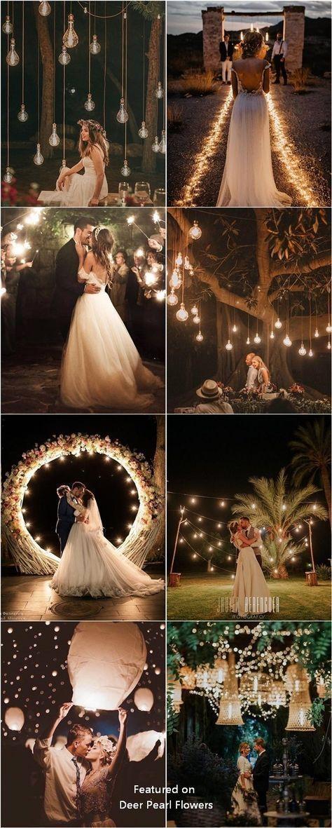Romantisches rustikales Land Licht Hochzeit Foto #Hochzeiten #Wedding Ideas #High