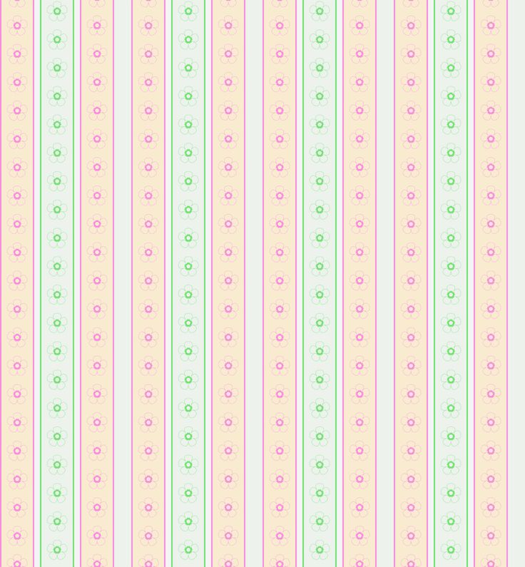 Morandi Sisters Microworld: Printable Wallpapers - Vertical Stripes With Big Flowers - 4 selections for colors