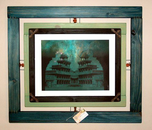 The temple Framed