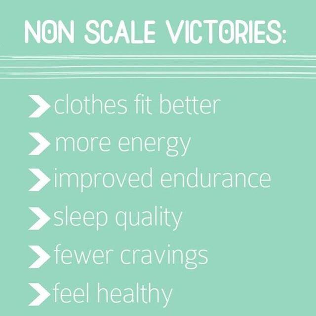 non scale weight loss goals sheet