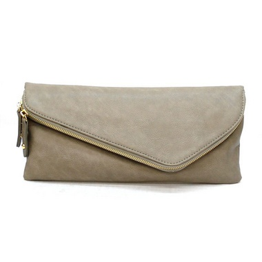 Night on the town (Gray Zippered Envelope Clutch - $35.00  Available at Chic Fashion Maven)