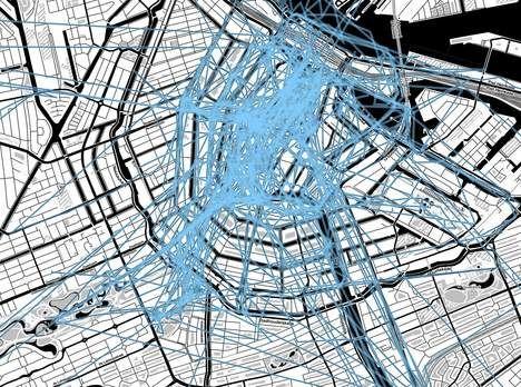 Toerisme in Amsterdam inventief in kaart gebracht via sociale media - AMSTERDAM - PAROOL