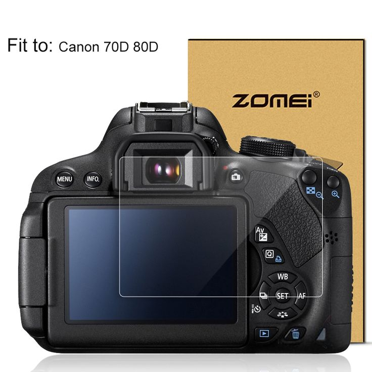 ZOMEI Tempered Glass LCD Screen Film Protector for Canon 70D 80D Digital Camera Screen