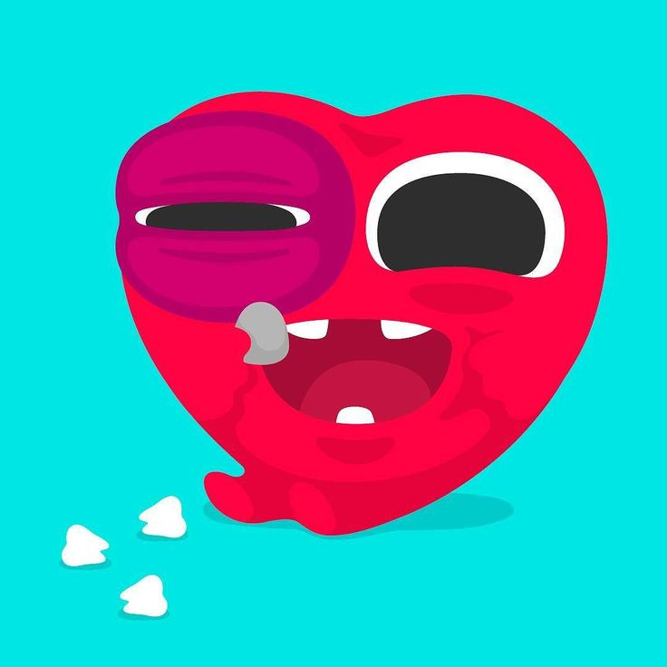 #heart #vector #flat #red #purple #love #stone #teeth #diente #corazon #coote #cute #illustration #art.