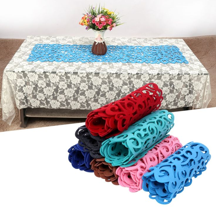 Cheap tablecloth runner, Buy Quality table runner directly from China table runner placemats Suppliers: 102 x 29cm  Rectangle Shape Felt Tablecloth Runner Placemats Table Mats Household Decorations For Home Table 7Color
