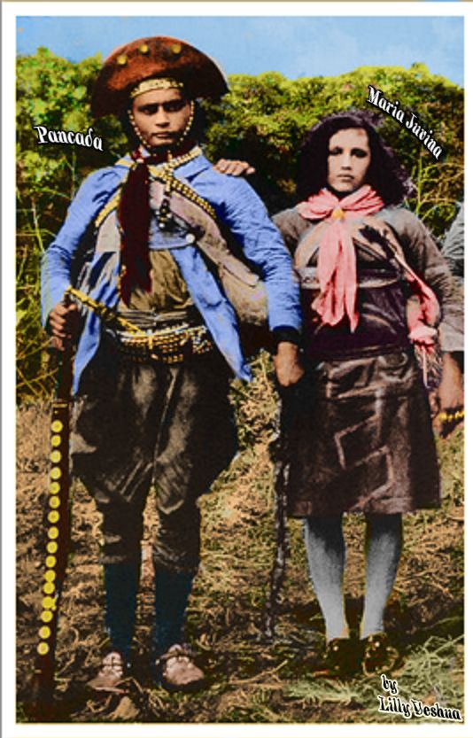 """PANCADA E MARIA JUVINA o caso de Maria Jovina de Pancada (Lino de Zezé) que, embora também tenha praticado ADULTÉRIO, não foi morta pelo seu companheiro """" foi deixada com a família em Santana do Ipanema pelo cangaceiro Moreno que era amigo da família (depoimento ao autor), e após a morte de Lampião (ocorrida em 28/07/1938), e após as chamadas """"ENTREGAS"""" (ato de se entregar)"""