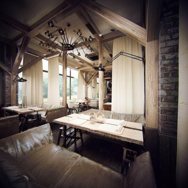 industrial chic devine restaurant by koko architects via behance
