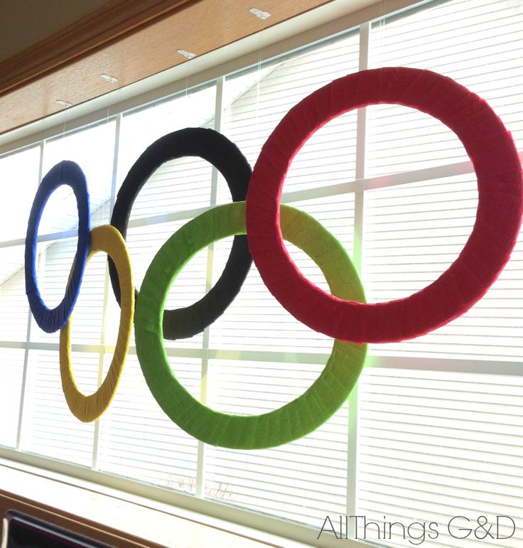 Winter Olympics Party - DIY Olympic Rings | www.allthingsgd.com