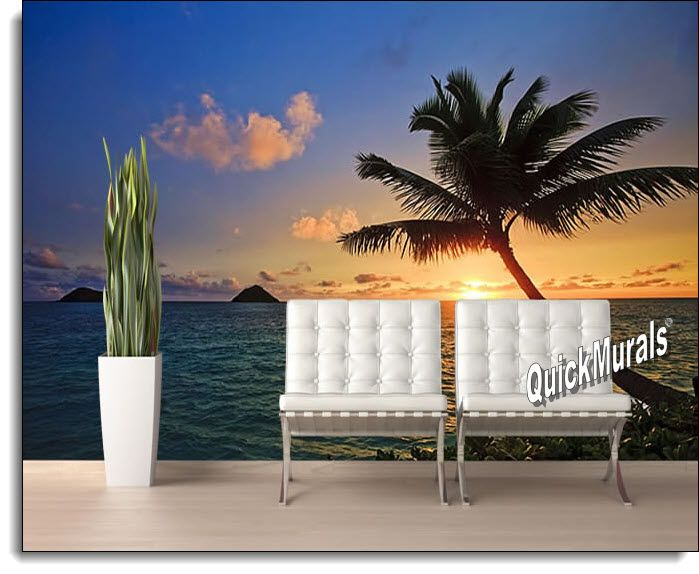 Captivating Tahiti Sunset Peel And Stick Wall Mural Part 19