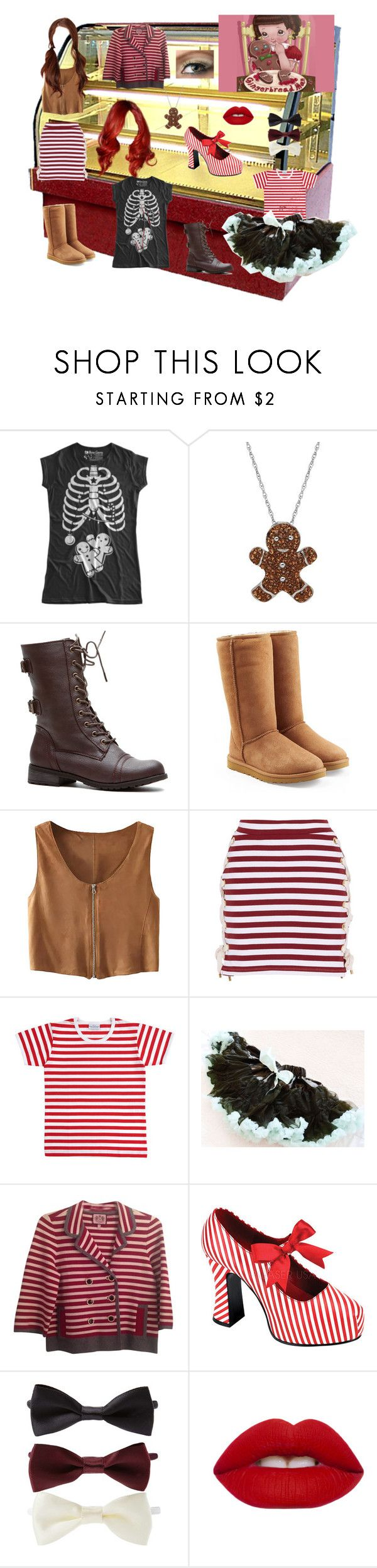 """Gingerbread Woman"" by catniss-cheshire on Polyvore featuring Mode, Artistique, UGG Australia, House of Holland, Marimekko, Juicy Couture, Funtasma, Forever 21 und Lime Crime"