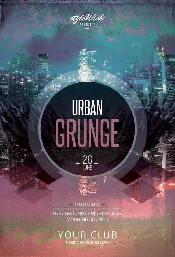 Urban Grunge Flyer. Psd TemplatesFlyer Design ...