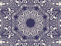 Hochwertige Fliesenaufkleber Quadratisch mit Design Blue Mandala   creatisto