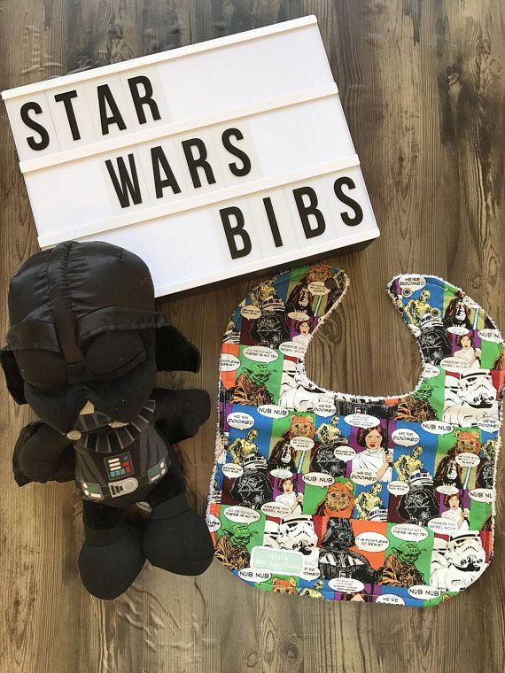 Handmade Star Wars Comic Strip Bibs