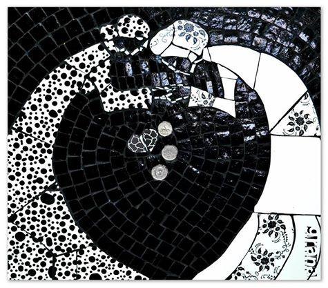 La Adivinadora - Mosaico, monedas.
