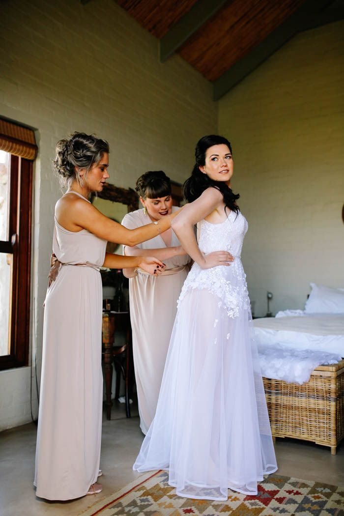this sheer wedding dress is the definition of ethereal