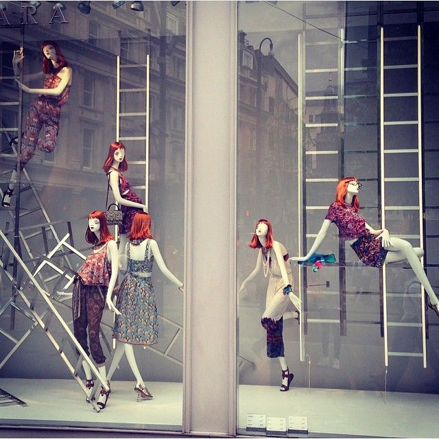 """ZARA, """"As you climb the ladder of success,be sure it's leaning against the right building"""", photo by The Displayer,pinned by Ton van der Veer"""