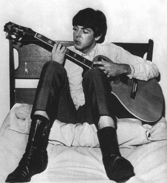 Beatle Boots on the bed