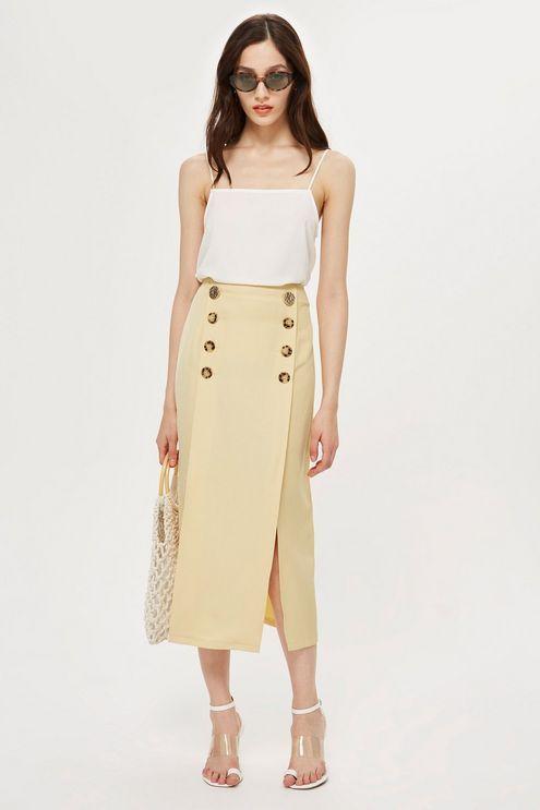 d6cdc961b Contrast Button Split Midi Skirt   Casual Boho Chic - Ms. Tamika ...