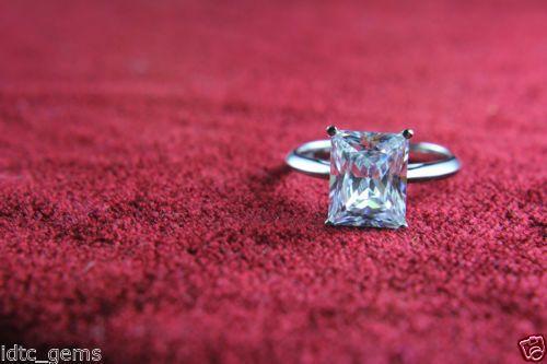 2.00 CT EMERALD CUT VVS1 14K WHITE GOLD DIAMOND SOLITAIRE WEDDING RING  #GoldJewellery17 #Solitaire