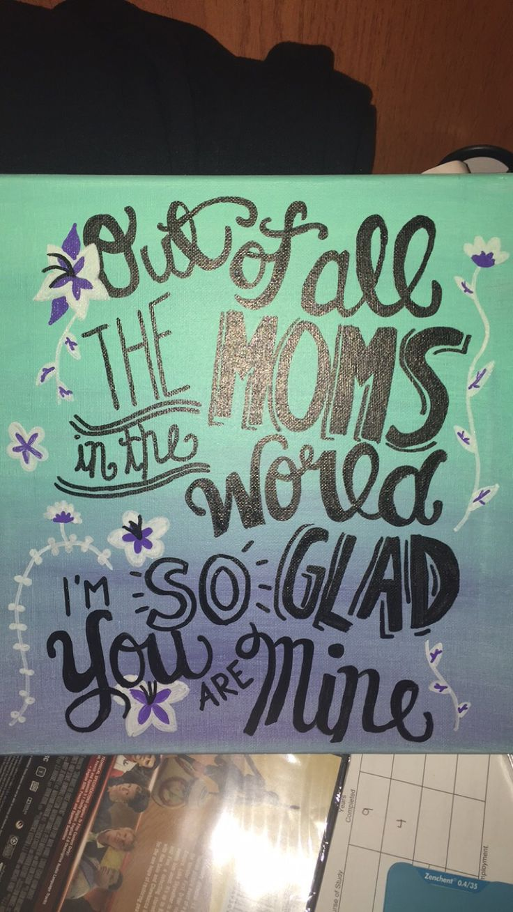 Mothers day canvas … Diy gifts for mom, Diy birthday