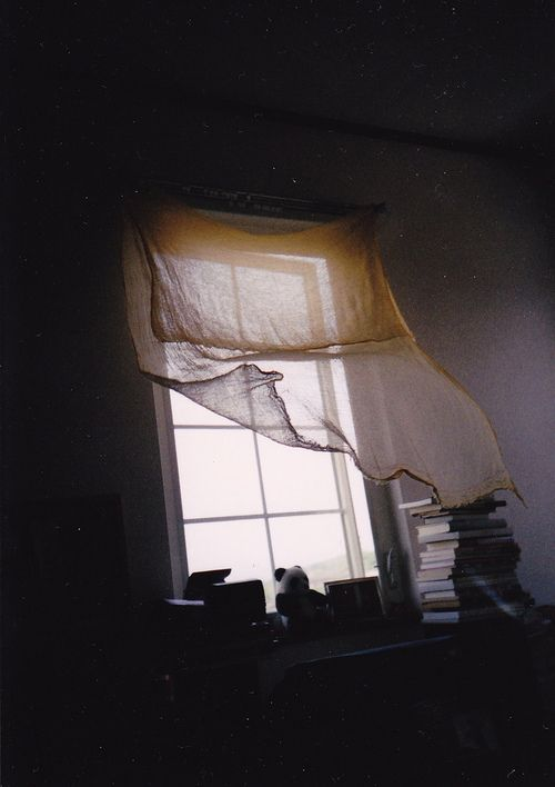(by risaikeda)  Waking to billowing curtains and a roaring attic fan is a favorite childhood memory.