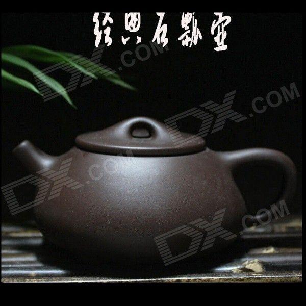 Handmade Yixing Purple Clay Teapot - Black (220ML)