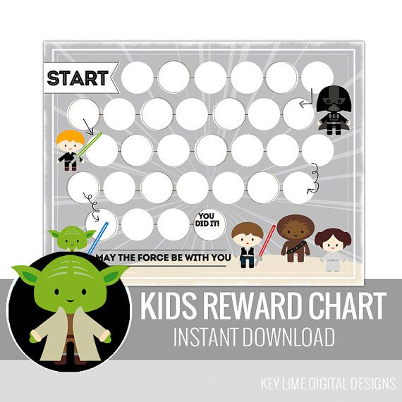 Galaxy Superhero Reward Chart - Instant Download Printable - Star Wars