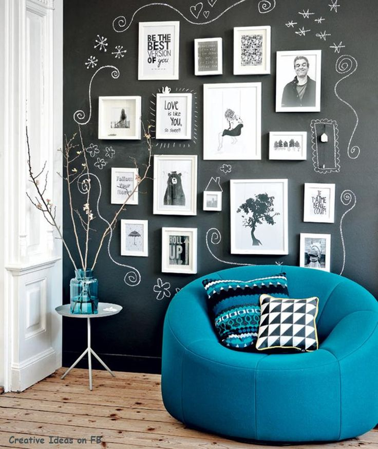 Love this idea! Chalkboard paint on the wall and go nuts!