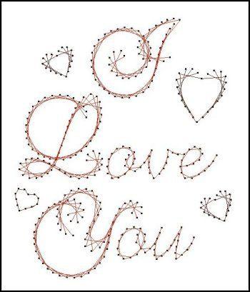 Ik hou van je Sentiment papieren borduurwerk patroon voor